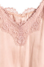 H&M+ Satin top - Powder pink - Ladies | H&M CN 3