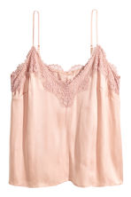 H&M+ Satin top - Powder pink - Ladies | H&M CN 2