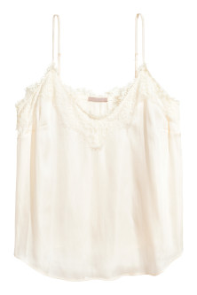 H&M+ Top en satin