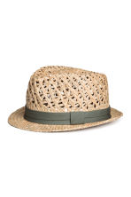 Cappello in paglia - Naturale - UOMO | H&M IT 1