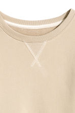 Sweatshirt - Light beige -  | H&M 3