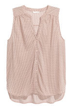 Sleeveless top - Powder pink/Pattern - Ladies | H&M CN 2