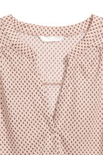Sleeveless top - Powder pink/Pattern - Ladies | H&M CN 3