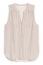 Sleeveless top - Light beige/Pattern - Ladies | H&M 2