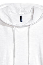 Hooded T-shirt - White - Men | H&M 3