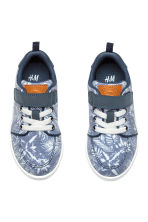 Canvas trainers - Blue/Patterned - Kids | H&M CN 2
