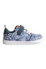 Canvas trainers - Blue/Patterned - Kids | H&M CN 1