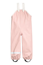 Rain trousers with braces - Dusky pink -  | H&M 2