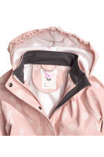 Patterned rain jacket - Dusky pink/Spotted - Kids | H&M CN 3