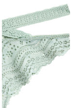 Lace Brazilian briefs - Dusky green - Ladies | H&M CN 3