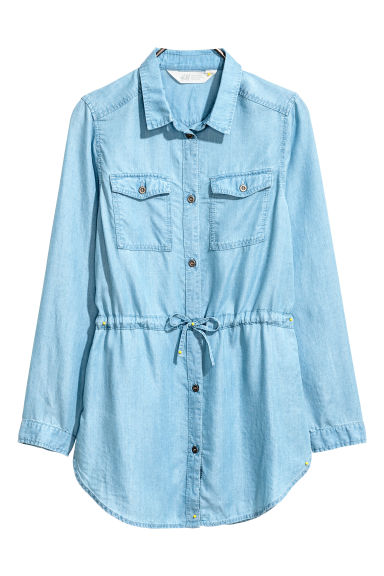 Twill tunic - Light denim blue -  | H&M CN 1