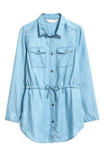 Tunique en twill - Bleu denim clair -  | H&M FR 1