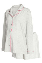 MAMA Pyjamas with shorts - Grey marl - Ladies | H&M 1