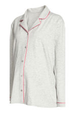 MAMA Pyjamas with shorts - Grey marl - Ladies | H&M 3