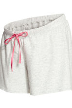 MAMA Pyjamas with shorts - Grey marl - Ladies | H&M 2