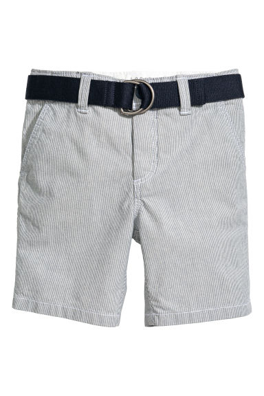 Shorts with a belt - Dark blue marl - Kids | H&M 1