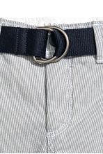 Shorts with a belt - Dark blue marl - Kids | H&M IE 2