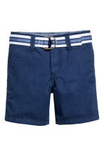 Shorts with a belt - Dark blue - Kids | H&M 2