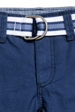 Shorts with a belt - Dark blue - Kids | H&M 3