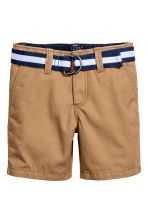 Shorts with a belt - Camel - Kids | H&M 2