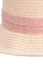 Straw hat - Powder pink - Kids | H&M CN 4