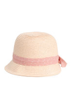Straw hat - Powder pink - Kids | H&M CN 1