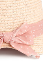 Straw hat - Powder pink - Kids | H&M CN 3