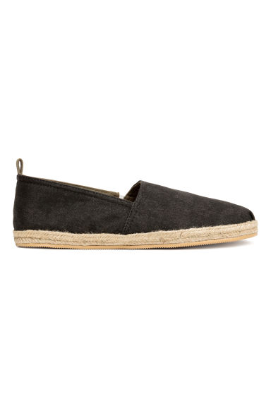 Katoenen espadrilles - Zwart washed out -  | H&M BE