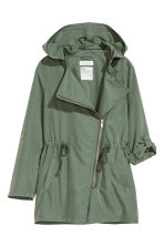 Parka with a hood - Khaki green - Kids | H&M 3