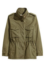H&M+ Cargo jacket - Khaki green - Ladies | H&M CN 2