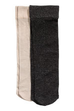 2-pack thin glittery socks - Black/Glitter - Ladies | H&M 1