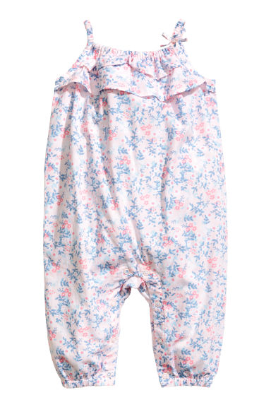 Patterned romper suit - Light pink -  | H&M