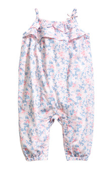 Patterned romper suit