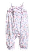 Patterned romper suit - Light pink -  | H&M CA 1