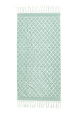 Jacquard-weave bath towel - Dusky green - Home All | H&M CN 2