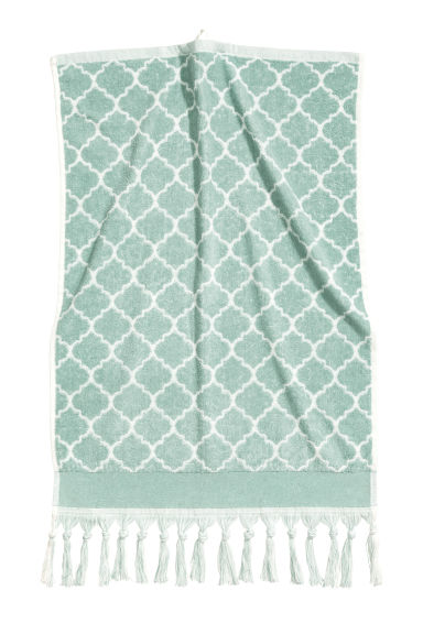 Jacquard-weave hand towel - Dusky green - Home All | H&M GB 1