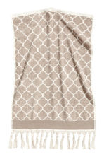 Serviette tissée jacquard - Taupe - Home All | H&M FR 1