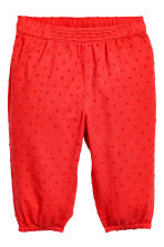 Pull-on trousers - Coral red -  | H&M 1