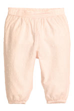 Pull-on trousers - Powder pink - Kids | H&M CA 1
