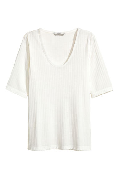 平紋上衣 - White - Ladies | H&M 1