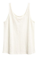 Linen-jersey strappy top - White -  | H&M CA 2