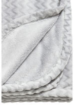 Zigzag-patterned blanket - Light grey - Home All | H&M CN 3