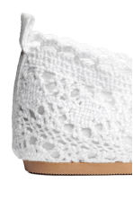 Lace-patterned ballet pumps - White -  | H&M CA 4