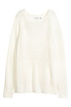 Knitted jumper - White - Ladies | H&M CN 2