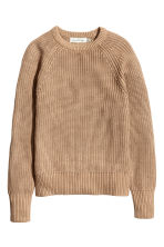 Stocking-stitched jumper - Beige -  | H&M CN 2