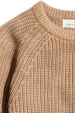 Stocking-stitched jumper - Beige -  | H&M CN 3