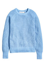 Stocking-stitched jumper - Light blue - Ladies | H&M CN 2