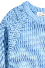 Stocking-stitched jumper - Light blue - Ladies | H&M CN 3