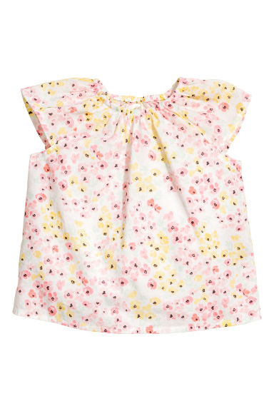 Cotton blouse - White/Floral - Kids | H&M CA 1