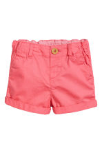 Cotton shorts - Coral pink -  | H&M CA 1
